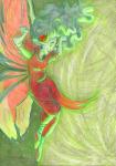 aradia_megido godtier green_sun maid midair solo the-nothing-maker time_aspect