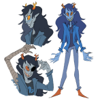 art_dump artificial_limb blush hellspawnmotel no_glasses solo vriska_serket