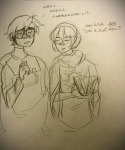 dave_strider godtier grayscale kindergraph knight rose_lalonde seer siblings:daverose