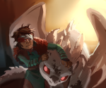 blindfold blood crossover how_to_train_your_dragon humanized lusus paperseverywhere pyralspite terezi_pyrope