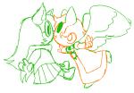 catdogcrow davepetasprite^2 dogtier godtier hellobeau jade_harley kiss shipping space_aspect sprite witch