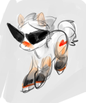 animalstuck crossover dirk_strider heart highlight_color my_little_pony nekobooty ponified solo