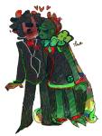 calliope escl-ert fashion formal grim_reaper heart karkat_vantas kiss redrom shipping suit