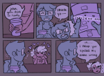 alternate_hair beverage comic daniople grimdorks john_egbert redrom rose_lalonde shipping word_balloon