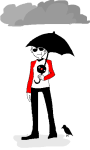 arijandro clouds crows dave_strider red_baseball_tee solo umbrella