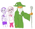 andrew_hussie blush cosplay lord_of_the_rings parody rose_lalonde roxy_lalonde starter_outfit tacitpact tolkien