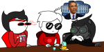 animals apple_juice barack_obama beverage crocker_corruption dave_strider dogtier godtier grimbark image_manipulation jade_harley jane_crocker knight life_aspect maid minute_maid redrom shipping skellyanon space_aspect spacetime thought_balloon time_aspect witch