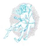 2spooky aradia_megido godtier hug limited_palette lineart maid melia no_glasses redrom shipping sollux_captor