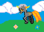 artificial_limb clouds crossover elfaleon my_little_pony native_source pixel ponified solo spring tavros_nitram