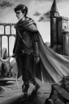 blood_aspect godtier grayscale karkat_vantas knight medieval request sickle solisen solo
