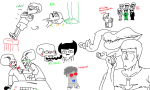 andrew_hussie art_dump blackrom blood bullet_time caliborn calliope crossover dave_strider felt_duds four_aces_suited instrument jake_english jojo's_bizarre_adventure licking multiple_personas robot shipping skellyanon