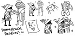 ! 565mae10 ? blush checkmates comic heart hug mail mayor_sash peregrine_mendicant pm postal_cap redrom shipping sketch wayward_vagabond wv