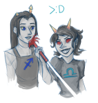 dragonhead_cane equius_zahhak law_and_order no_glasses request shipping sketch terezi_pyrope valeriannnn