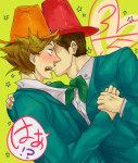 blush felt fin heart hiomoi holding_hands humanized kiss profile redrom shark_bros shipping trace