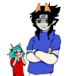 arms_crossed cosplay crossover deer-dearest heart naruto nepeta_leijon redrom scratch_and_sniff shipping terezi_pyrope