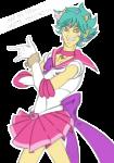 admantist crossover dancestors drag_me kankri_vantas language:japanese sailor_moon solo text transparent trickster_mode zodiac_symbol