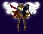 alinajames aranea_serket aspect_symbol carrying dancestors godtier hope_aspect jake_english midair mindfang_dress page ring_of_life whomping_widow