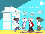 appl-juice42 beta_kids dave_strider jade_harley john_egbert rose_lalonde starter_outfit the_word_homestuck zodiac_symbol