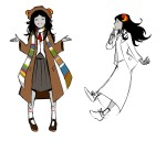 aradia_megido art_dump cosplay crossover doctor_who lineart request solo t1mco