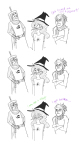 arms_crossed crossover eridan_ampora grayscale hat jade_harley john_egbert monty_python vyco