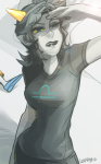 broken_source godtier lapiny no_glasses panel_redraw rose_lalonde seeing_terezi seer solo terezi_pyrope wip