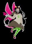 feferi_peixes godtier life_aspect sick_fires skelebirbs solo transparent witch