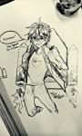 grayscale john_egbert rocket_pack solo starter_outfit tartime word_balloon