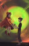 2spooky aradia_megido chaos7 godtier green_sun holding_hands maid redrom shipping sollux_captor time_aspect