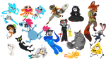 art_dump askwatersee breath_aspect cats disney dogtier dragon_cane godtier gravity_falls heir jade_harley john_egbert lemonsnout noose scalemates sly_cooper sonic_the_hedgehog space_aspect terezi_pyrope the_amazing_world_of_gumball transparent wander_over_yonder warriors witch zootopia