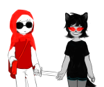animal_ears crossover dave_strider godtier knight little_red_riding_hood mohalkayo terezi_pyrope time_aspect