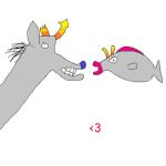 animalstuck dellovan equius_zahhak feferi_peixes heart koala_tea redrom royal_pain shipping