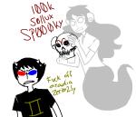 2spooky aradia_megido arijandro dead_aradia ghosts shipping skulls sollux_captor text