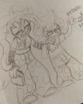 book chahut_maenad gamzee_makara hiveswap honk lavendertoon sketch