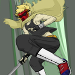 cloud dirk_strider gasmask low_angle solo strong_outfit strong_tanktop unbreakable_katana