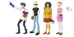 413art arms_crossed beta_kids cosplay crossover dave_strider dexter's_laboratory halloweenstuck jade_harley john_egbert johnny_bravo rose_lalonde scooby-doo the_grim_adventures_of_billy_and_mandy