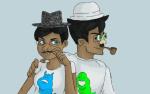 artaline beagle_puss fedora hat jane_crocker john_egbert poirot_mustache starter_outfit
