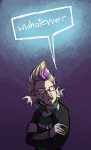 arms_crossed au crossover dojo eridan_ampora harry_potter humanized solo text word_balloon