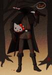 blood coley-wog dirk_strider halloweenstuck hello_kitty solo trees unbreakable_katana word_balloon