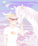 animals arcstuck dirk_strider flowers seagulls solo stars starter_outfit