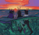 amporas back_angle clouds cronus_ampora dancestors eridan_ampora eriferi feferi_peixes fish_grease holding_hands manicpeixesdreamgirl multishipping ocean request shipping