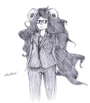 aradia_megido crossdressing crossover doctor_who glasses_added solo suit terezible