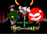 arquiusprite caliborn crossover gamzee_makara image_manipulation lord_english microphone plainwonder sprite text two_and_a_half_men