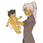 babies carrying desertmint fanfic_art grandma jake_english