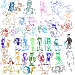 ace_attorney animalstuck art_dump artificial_limb beverage dc fanlusus fantroll flowers gamzee_makara heavy_rain holding_hands hug karkat_vantas left_4_dead lusus pbj shipping specialsari superman tavros_nitram terezi_pyrope thought_balloon unknown_crossover vriska_serket weapon word_balloon
