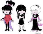 beetlejuice black_squiddle_dress conej0s cosplay crossover rose_lalonde the_addams_family the_loud_house thorns_of_oglogoth transparent