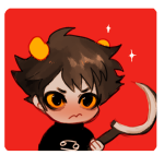 blush chibi karkat_vantas private_source sickle solo yt