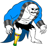 artificial_limb crossover ggthefandomtrash image_manipulation lord_english parody solo sprite_mode transparent undertale