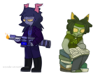 au bloodswap book glasses_added hiveswap pirate_thief rebel_marshall wcender weapon