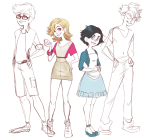 alpha_kids artist-in-training dirk_strider fashion formal jake_english jane_crocker roxy_lalonde sketch wip