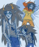artificial_limb blood cityslicker godtier light_aspect mind_control multiple_personas starter_outfit thief vriska_serket
